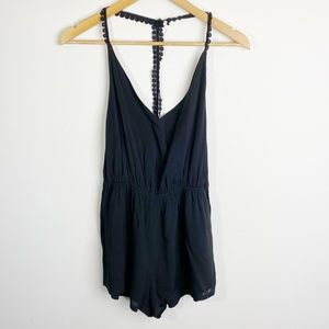 NWT Urban Outfitters Ecoté Romper Black Size XS